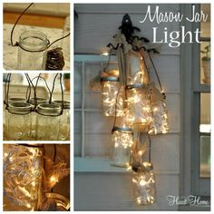Creative Ideas - DIY Mason Jar Light | iCreativeIdeas.com Follow Us on Facebook ==> www.facebook.com/iCreativeIdeas