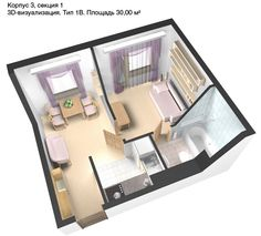 Plan, 30 square meters | For the Home | Pinterest | Square meter, Small  apartments and Apartment ideas