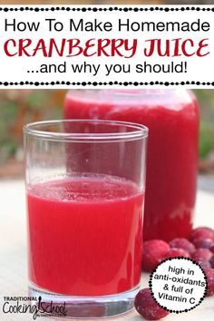 We've all heard that cranberry juice has many benefits and uses from detox, cleanse, weightloss and help with healing from a UTI. But did you know many commercially-available cranberry juices are sweetened with sugar or high-fructose corn syrup and combin Detox Diet Drinks, Detox Juice Recipes, Natural Detox Drinks, Fat Burning Detox Drinks, Detox Juices, Cleanse Detox, Juice Cleanse, Cleanse Recipes, Diet Detox