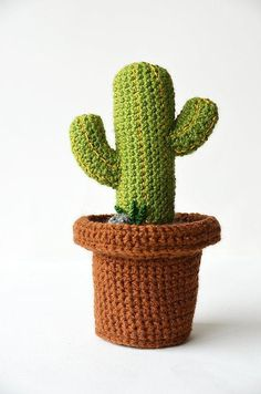 Desert Cactus - Mexican Cactus - Cute Green Cactus - Crochet Cactus - Crochet Plant - Plant Home Decor. Find more DIYs, crochet patterns and home inspiration at LoveCrochet.Com!