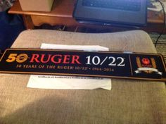 50-Years-of-Ruger-10-22-1964-to-2014-Black-Tin-Sign #ebay #sold #ruger #kenblackcat