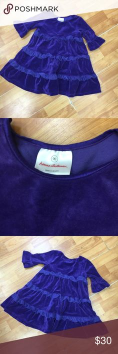 Hanna Andersson Purple Velour Dress 90 3T Hanna Andersson Purple Velour Dress 90 3T  Beautiful purple velour dress - I could not capture the actual color but it is closer to royal purple.  Beautiful and quality!  #hannaandersson90 #purple #dress #itsadress #velour #hannafannas #hannavelour Hanna Andersson Dresses