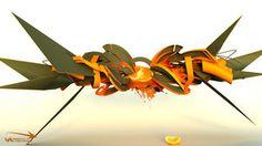 3d graffiti - sketch 60 by sidewinder002