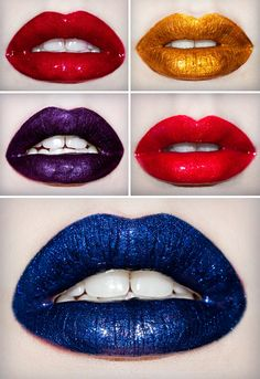 Shiny lips.