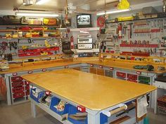 A well equipped and organized woodshop can make woodworking enjoyable, productive and safe!