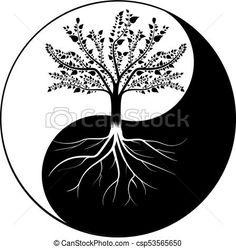 Yin and Yang - The Relationship between Mother Earth, and health Ying Yang, Arte Yin Yang, Yin Yang Art, Line Art, Earth Tattoo, Logo Image, Yin Yang Tattoos, Les Chakras, Pop Art Wallpaper