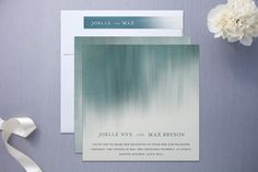 ombre invitations? can I get married again?