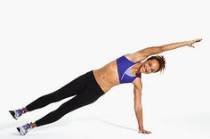 Advanced Side Plank - requires good core stability and balance