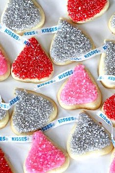 Hershey's Kisses cookies for Valentine's Day!