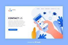 Licence Lea, Contact Us, Social Media Design, Design Elements, Landing, Vector Free, Business Technology, Templates, Website