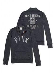 US Army Half-Zip Pullover - PINK - Victoria's Secret