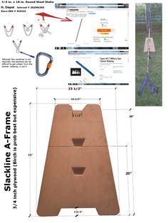 Slackline A-Frame - DIY