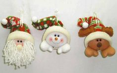 Pin by Monica Rey on Navidad Snowman Christmas Decorations, Christmas Snowman, Christmas Crafts, Merry Christmas, Xmas, Christmas Ornaments, Holiday Decor, Felt Ornaments, Crafty