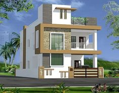 house elevation, islamabad house elevation, Pakistan house elevation - Her Crochet 3 Storey House Design, Two Story House Design, Village House Design, Bungalow House Design, House Front Design, Small House Design, Philippines House Design, House Plans Mansion, House Design Pictures