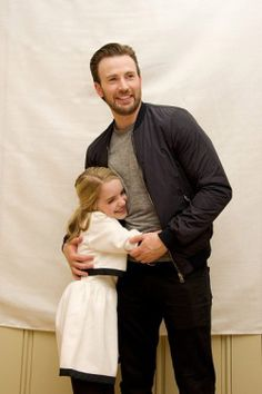 Chris Evans & McKenna Grace at the Gifted press conference in LA, California, on March 31, 2017.