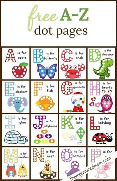 Dot Sticker Pages The Measured Mom is part of Alphabet preschool - These free alphabet dot printables are a wonderful way to build fine motor skills and letter knowledge! My kids love these worksheets finemotor alphabet doadot Letter Activities, Learning Activities, Kids Learning, Activities For Kids, Learning Spanish, Teaching Resources, Learning Time, Spanish Lessons, School Resources