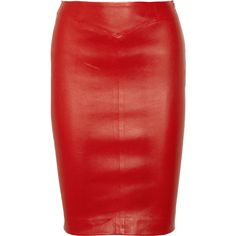 Joseph Stretch-leather pencil skirt ($795) ❤ liked on Polyvore