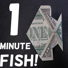 Creative Money Gifts, Gift Money, Money Cards, Origami With Money, Origami Money Flowers, Origami Butterfly Instructions, Money Origami Tutorial, Origami Fish Easy, Origami Turtle