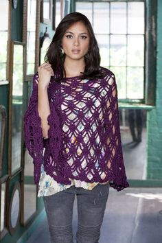 "Free pattern for this cool, ""Bohemian Shawl""! uses worsted weight yarn, not listed in the pattern, but the yarn they use is worsted weight, you will need 700 yards"