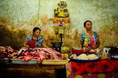 Photo The Butcher Ladies by tunc suerdas on Indonesian Food, Ubud, Bali, Photos, Painting, Beautiful, Pictures, Indonesian Cuisine, Painting Art
