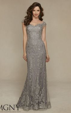 beaded net gown by mgny by mori lee | Mori Lee 71314 Dress - MissesDressy.com