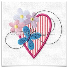 Free Embroidery Design: Heart