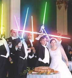 I will allow light sabers as well.. after the ceremony... god I must love him