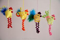 Easter Decoration - chicken, crazy crochet pattern by HandMadeByNatalija on Etsy https://www.etsy.com/listing/127462561/easter-decoration-chicken-crazy-crochet