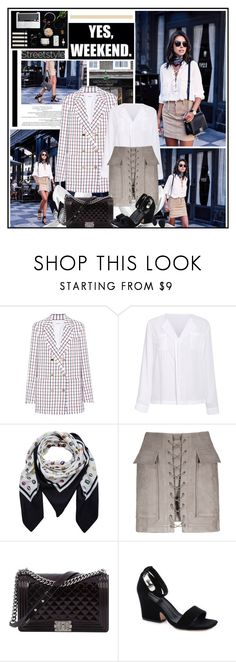 """Weekend Style"" by katik27 ❤ liked on Polyvore featuring Ultimate, Thom Browne, Rosie Assoulin and Chanel"