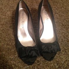 Stilettos heels Satin stilletto heels from White House Black Market. Worn couple of times but in great condition White House Black Market Shoes Heels