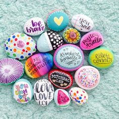"""905 Likes, 73 Comments - K I M B E R L Y Y O U N G (@seriouslydaisies) on Instagram: """"Pretty rocks!!! Here's some of the rocks, that me and the kids have painted, over the past couple…"""""""