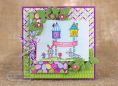 Wishes on A Wire-Happy Easter Card by Keia Shipp-Smith #Cardmaking, #TEMatched, #Easter, #EmbossingFolders, #TE, #ShareJoy