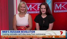 MKR villains Olga and Valeria brush off critics  Theyre two of the most controversial contestants on this season of My Kitchen Rules.  And on Weekend Sunrise on Sunday Russian villains Olga and Valeria brushed off their critics.  The pair said some fans event want to marry them but admitted: Its always a love hate relationship with Russians.  Scroll down for video  Some people want to marry us! MKR villains Olga (L) and Valeria (R) brush off criticsas they prepare for their instant…