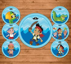 Jake and the Neverland Pirates Cupcake by NineLivesNotEnough