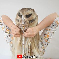 Bandana Hairstyles For Long Hair, Girly Hairstyles, Scarf Hairstyles, Summer Hairstyles, Hairstyles With Ribbon, Trending Hairstyles, Hair Scarf Styles, Short Hair Styles, Braided Scarf
