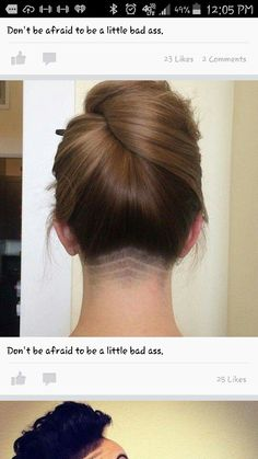 Think Your Hair Can't Be Tamed? Everyone wants to have great looking hair, as a good set of locks can completely transform a person's appearance. Undercut Hairstyles Women, Undercut Long Hair, Undercut Women, Pretty Hairstyles, Bob With Undercut, Haircuts, Hair Styles 2016, Medium Hair Styles, Curly Hair Styles