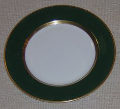 Fitz and Floyd Renaissance Dark Green Bread and Butter Plate - pinned by pin4etsy.com