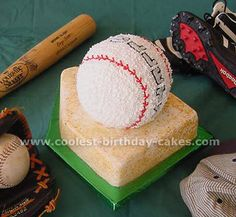 Baseball Cake Picture via coolest-birthday-cakes.com