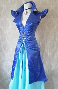 Majestic pirate long corset coat-to fit a 32-34 inch natural waist. $50.00, via Etsy. I would totally wear this if I had a somewhere to go in it to. :)