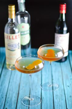 Schiller Negroni - Gin, Lillet Blanc and Red Vermouth