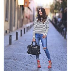 Casual Classic Mix Fall Street Style Inspo by TrendyTaste Outfits Otoño, Neue Outfits, Fall Outfits, Ropa On Line, Trendy Taste, Smart Casual Women, Look Casual, Winter Stil, Pinterest Fashion