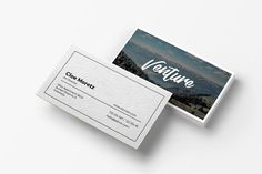 Venture - Minimal Business Card by micromove on Envato Elements Minimal Business Card, Business Card Logo, Business Card Design, Creative Business, Graphic Design Templates, Print Templates, Envato Elements, Photoshop, Magazine Template