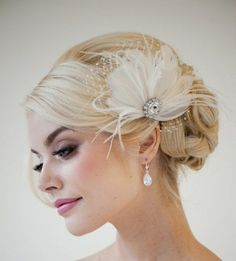 Haarschmuck Braut Brautfrisur Dutt Hochsteckfrisur