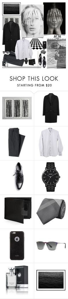"""""""White Mirror"""" by mariettamyan ❤ liked on Polyvore featuring Nova Lighting, AMI, Lands' End, GUESS, Nixon, Perry Ellis, Burberry, Moshi, Ray-Ban and Bulgari"""