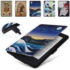 699c22ca279c3 Comprar Caso inteligente para Kindle Paperwhite, eReader Ímã Auto Despertar  Sono, Iluminado Kindle Paperwhite capa de Couro Tampa Slim Fit 2012 ~ 2015,  K5