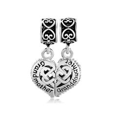 Pugster Vintage Silver P Mother Daughter Heart Celtic Knot Charms Bracelets Fits Pandora Charm Bracelet:… #CheapJewelry #DesignerJewelry