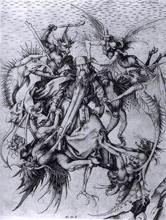 Temptation of St Anthony, c. 1475         Martin Schongauer