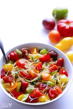Heirloom Tomato Pasta - Just made this and it was yummy!