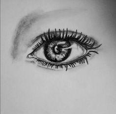 Realistic eye sketch