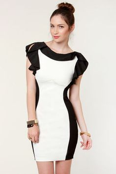 Belle Curve Black and White Dress Love it!